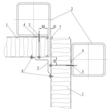 Угол внутренний - соединение стеновых сэндвич-панелей.